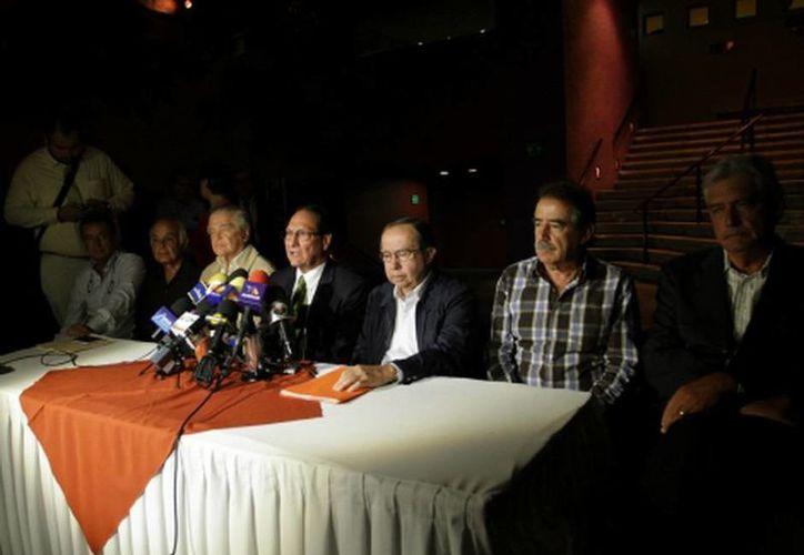 Los socios del Atlas informaron en conferencia de prensa de los motivos para vender el equipo de futbol. (Carlos Zepeda/MILENIO)
