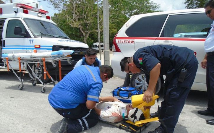 La víctima tenía una herida arriba de la ceja izquierda. (Redacción/SIPSE)