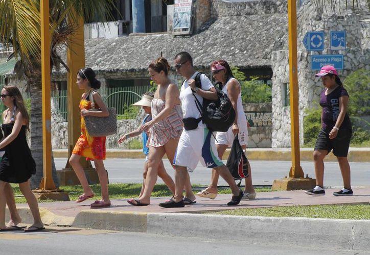 El arribo de turistas extranjeros ha sido muy notorio. (Israel Leal/SIPSE)