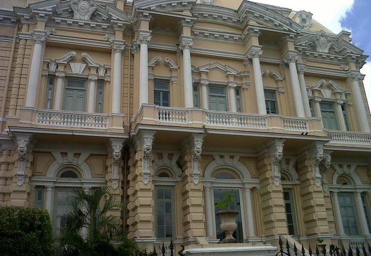 El Palacio Cantón es un referente del Paseo de Montejo, la principal avenida de Mérida, actualmente el edificio ocupa el Museo Regional de Antropología. (Milenio Novedades)