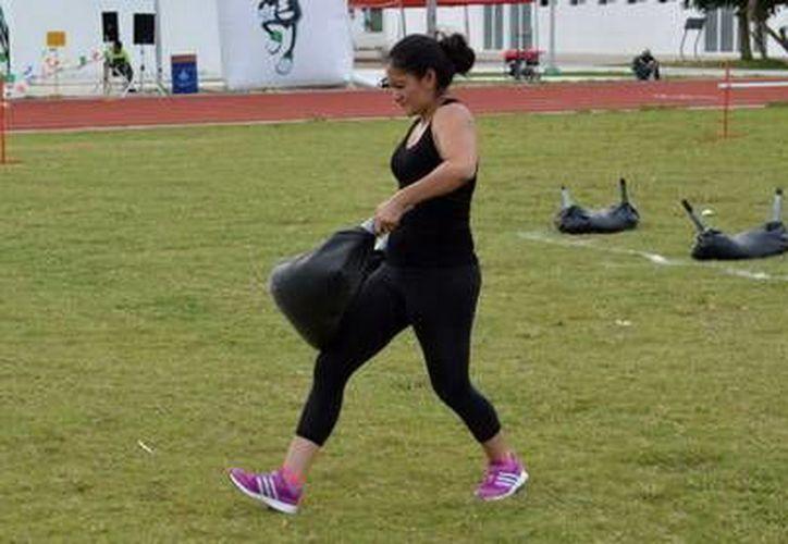 Carolina Tejero Padrón quedó tercera entre las mujeres, con 78 puntos. (Milenio Novedades)