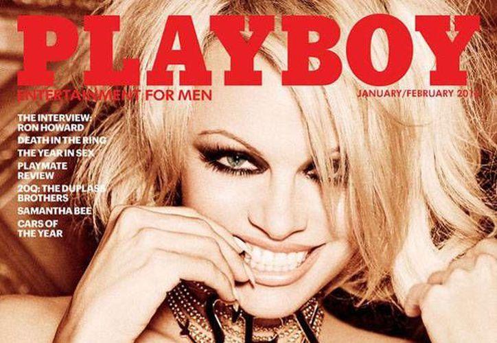 Pamela Anderson, actriz y modelo canadiense de de 48 años, será la última <i>conejita</i> que presente desnuda la revista Playboy. (Playboy)