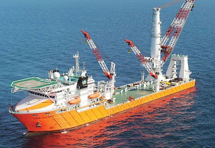 El buque 'Caballo de mar', empleado para trabajos de buceo de saturación, desapareció de la flota de Oceanografía. (Foto de contexto tomada de Excelsior)