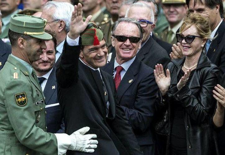 Banderas estuvo acompañado de su esposa Melanie Grifith. (elnuevoherald.com)