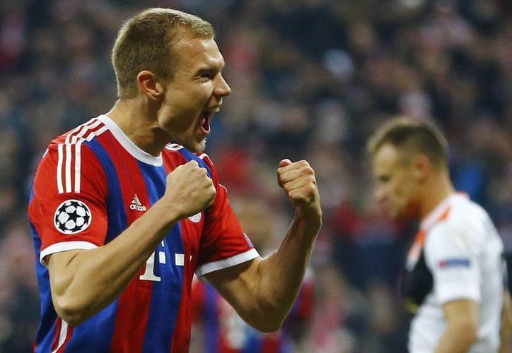 De los siete tantos que anotó Bayern al Shakthar, el más celebrado fue el de Holger Badstuber, que venía de una lesión. (Fotos: AP)