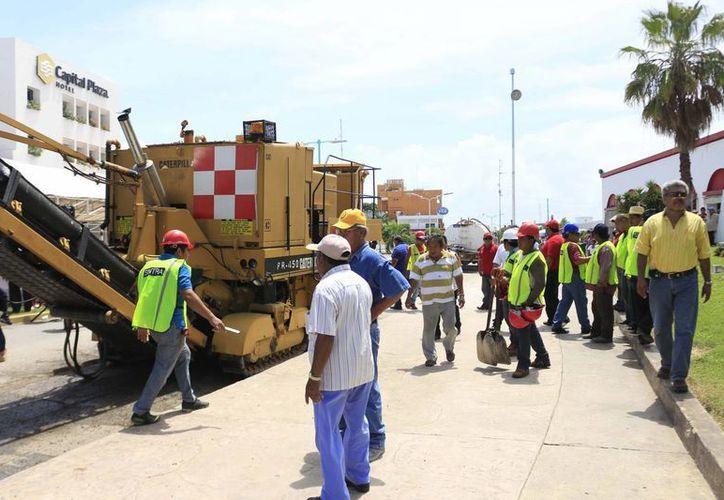 Obras dan trabajo a los contratistas del Estado, gracias a un convenio al que llegaron las autoridades con los empresarios. (Benjamín Pat/SIPSE)