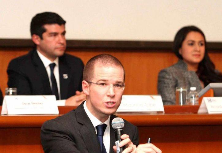 El presidente del PAN, Ricardo Anaya, aseguró que México amerita un combate frontal contra la corrupción. (Archivo/Notimex)