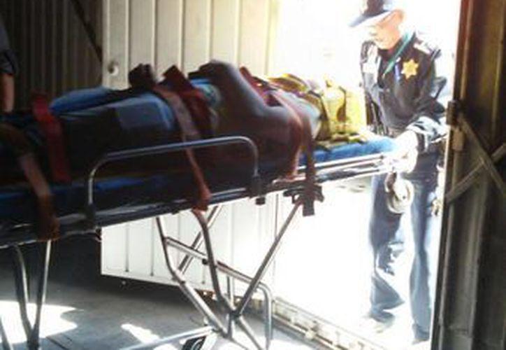 Un joven cayó por accidente de un segundo piso, en un predio del centro de Mérida. (Foto cortesía)