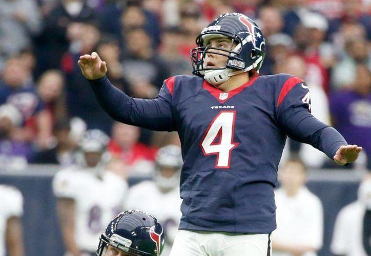 Randy Bullock se integra como pateador a Gigantes de Nueva York para el comienzo de la temporada de la NFL. (Foto de USA Today Sports)