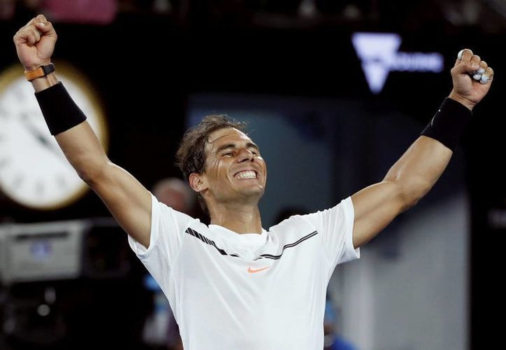 Con el triunfo ante Milos Raonic, Rafael Nadal se medirá en Semifinales al búlgaro Grigor Dimitrov, el próximo viernes 27 de enero.(Kin Cheung/AP)