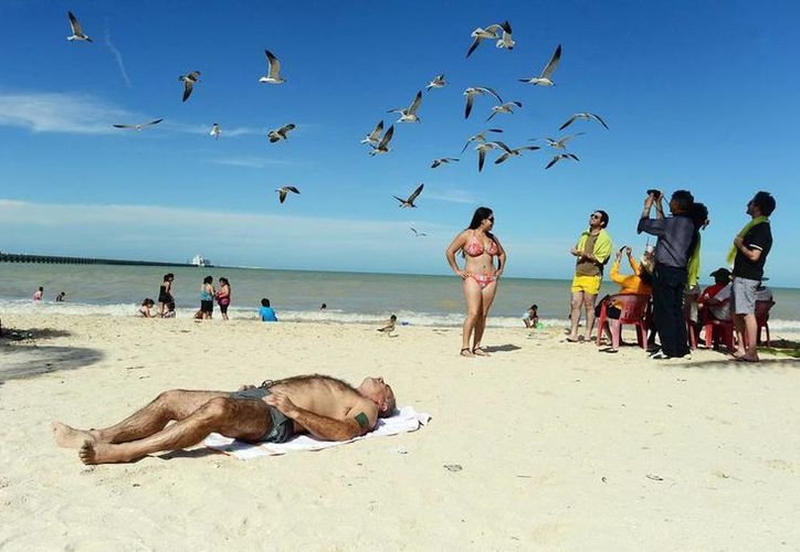 Los bañistas tienen <i>carta abierta</i> para disfrutar de las playas de Yucatán. (Milenio Novedades)