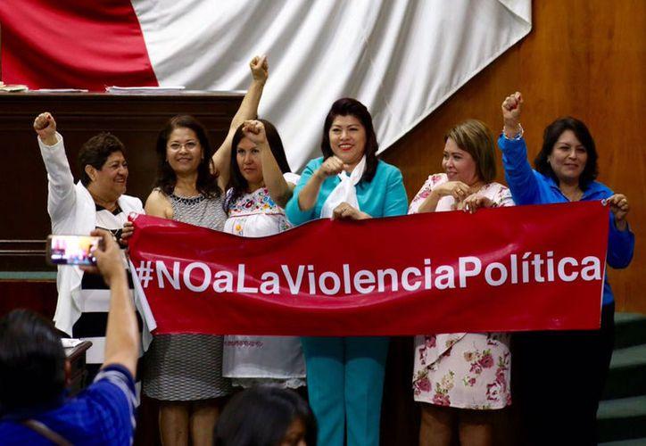 Puerto Morelos a favor de tipificar la violencia política contra las mujeres como delito. (Foto: portal Cimac)
