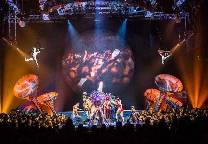 El Cirque du Soleil durante el espectáculo 'Sép7imo Día' en Buenos Aires. (Contexto/ Popart Music)