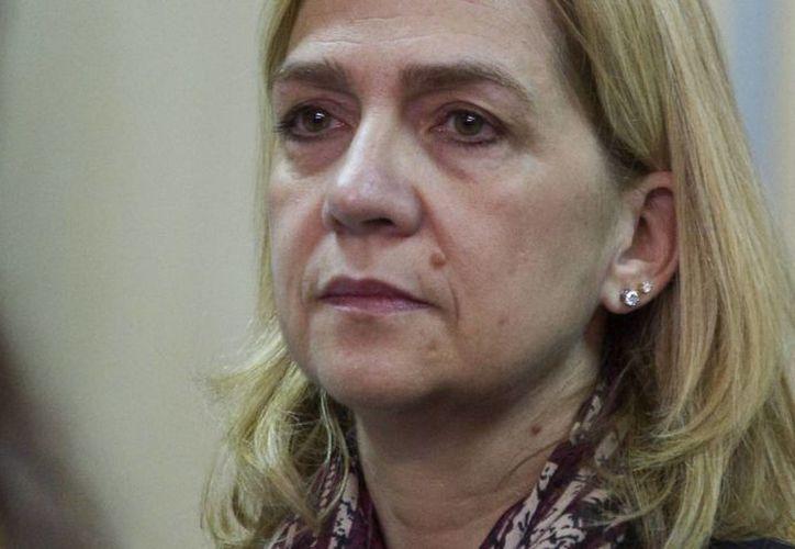 La infanta Cristina durante el juicio del caso Nóos que comenzó el pasado 11 de enero en el edificio de la Escuela Balear de la Administración Pública de Palma. (EFE)