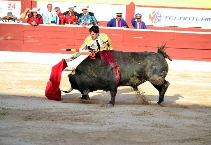 'Paquirri' lució, pero no fue suficiente para obtener premios en la Plaza Mérida. (Daniel Sandoval/Milenio Novedades)