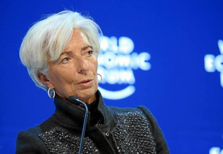 La directora gerente del Fondo Monetario Internacional (FMI), Christine Lagarde, durante su participación en el Foro Económico de Davos, Suiza, el pasado 23 de enero. (Archvo/Notimex)