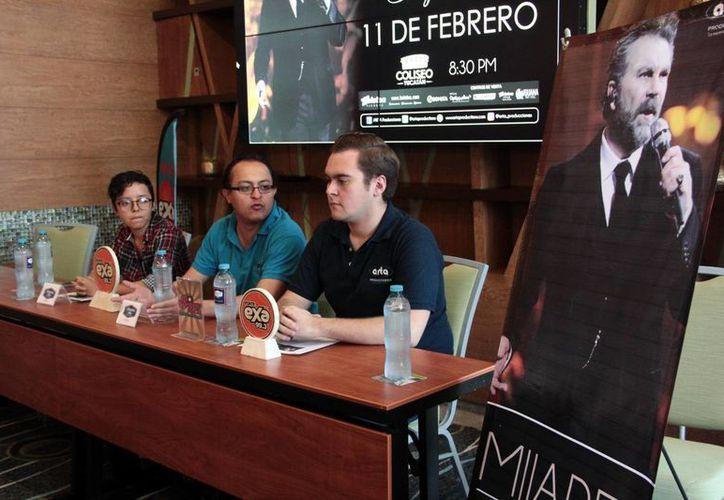 En conferencia de prensa, los organizadores dieron a conocer todos los detalles relacionados con el concierto sinfónico de Manuel Mijares.(Milenio Novedades)