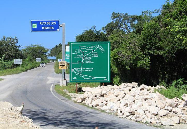 Detectan en Puerto Morelos un cenote contaminado. (Cortesía)