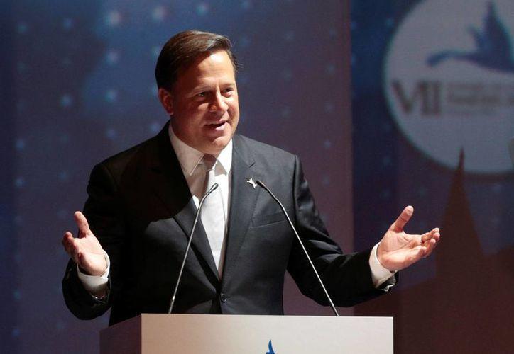 El presidente de Panamá, Juan Carlos Varela, dio la bienvenida a los mandatarios participantes en la Cumbre. (AP)