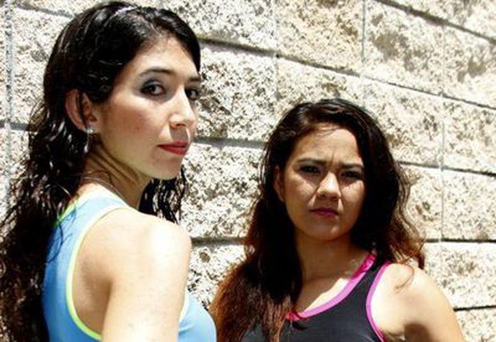 Sirenas y Lipstics en la primera Liga de Football en Lencería de Cancún. (Redacción/SIPSE)