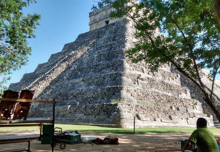 La zona arqueológica de Chichén Itzá es de las que se encuentran en una zona ciclónica de impacto directo. (Notimex)