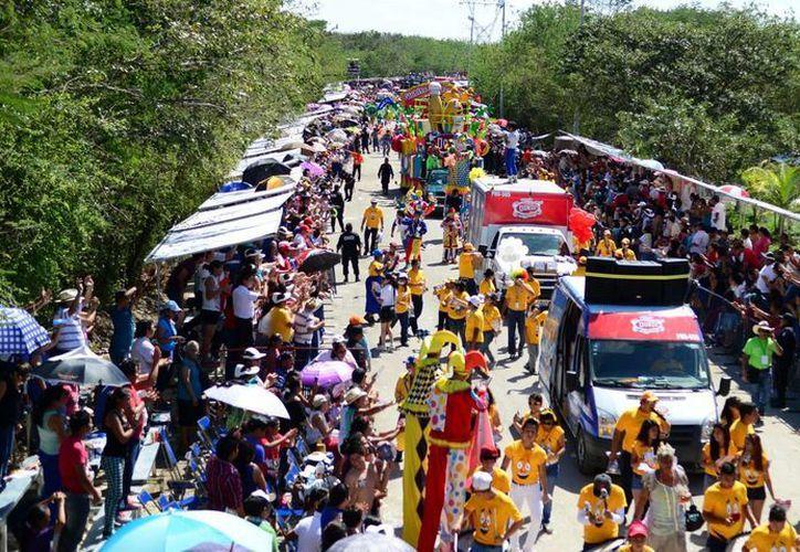 Imagen del derrotero del Carnaval de Mérida en las instalaciones de Xmatkuil el año pasado. (Milenio Novedades)