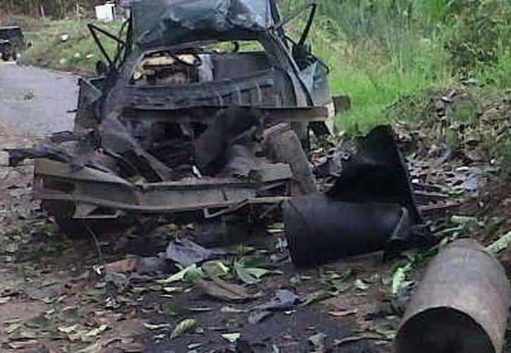 El carro-bomba hizo explosión en las afueras de El Palo. (elcolombiano.com)