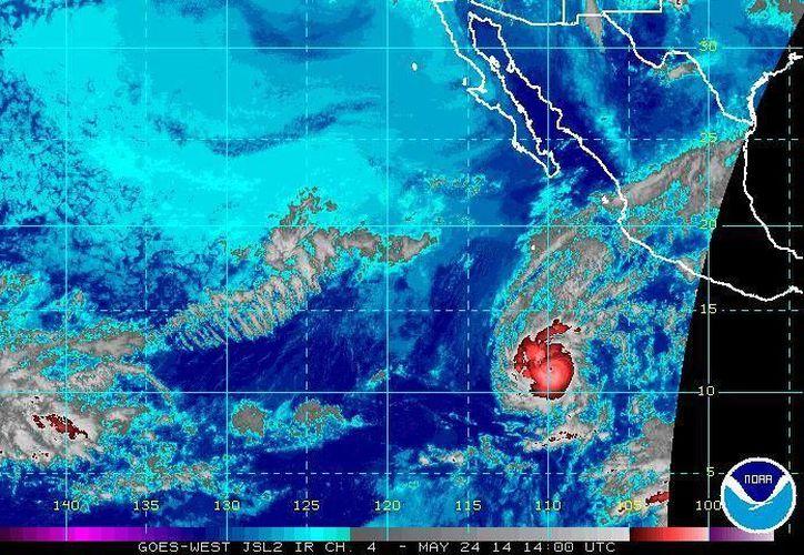 La tormenta 'Amanda' traerá importantes afectaciones sobre todo en los estados cercanos al Océano Pacífico. (ssd.noaa.gov)