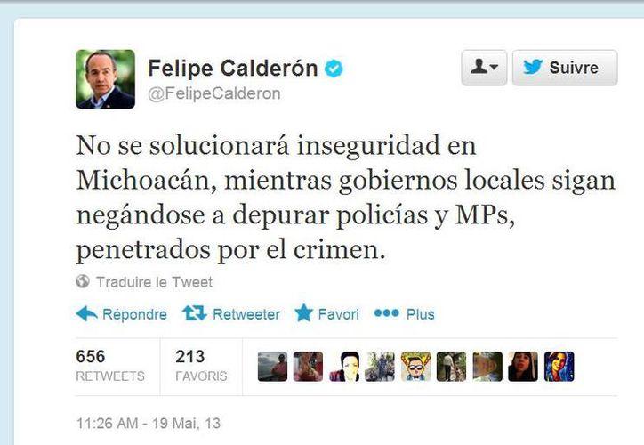 (Twitter.com/@FelipeCalderon)