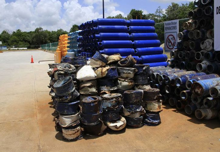 Cada año se reciclan más de 15 mil cilindros de tanque de Gas Licuado de Petróleo (LP) en QuintanaRoo. (Tomás Álvarez/SIPSE)