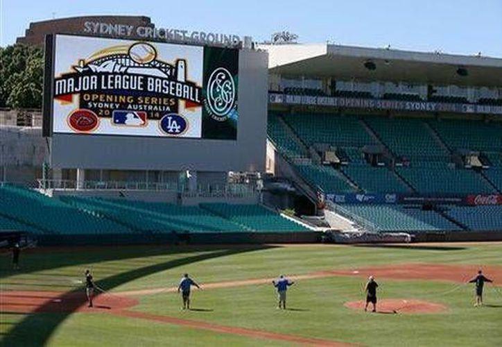 El estadio Cricket Ground de Sidney será este fin de semana sede de la apertura de la temporada de Grandes Ligas. (Agencias)