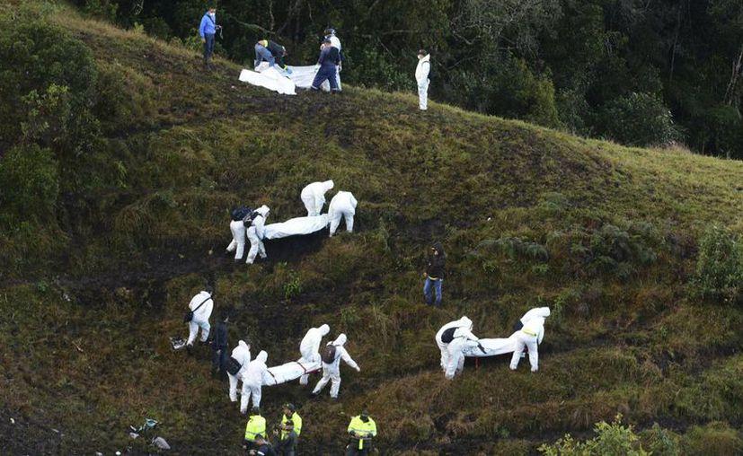 El avión partió de Santa Cruz, Bolivia y se estrelló cerca de Medellín, Colombia, el 28 de noviembre. (AP/Luis Benavides)