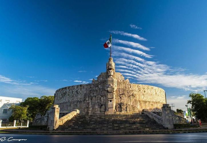 La construcción del Monumento a la Patria inició en 1945. (Imagen cortesía del Ayuntamiento de Mérida)