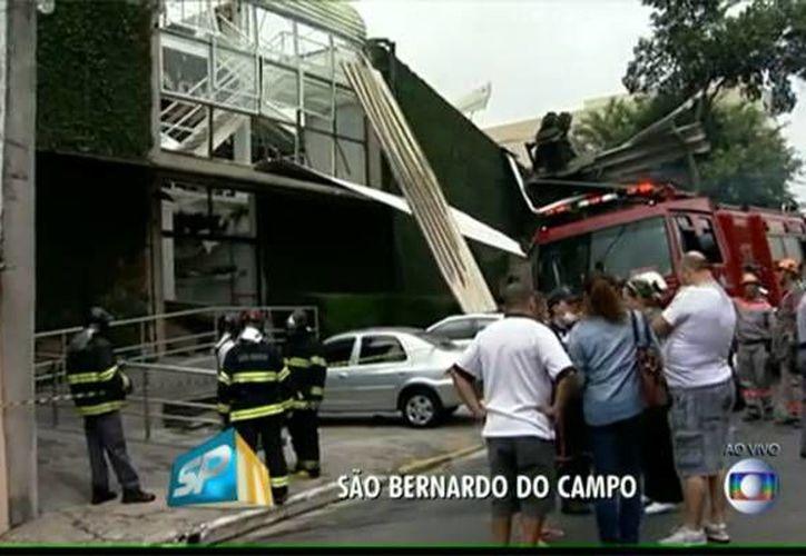 La explosión ocurrió en el gimnasio Tem Esportes en Sao Bernardo do Campo. (O Globo)