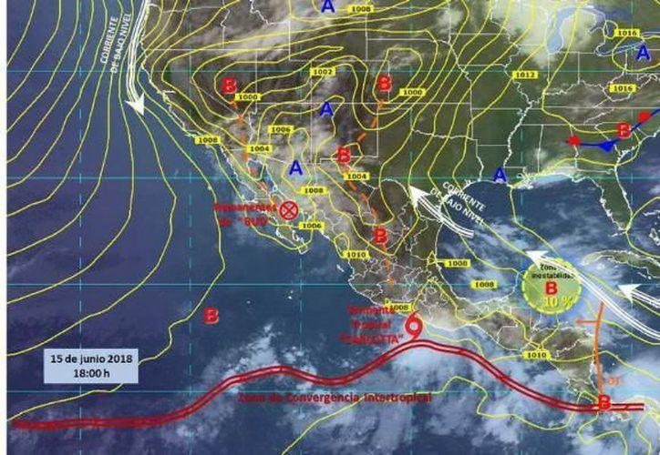 Pronostican fuertes lluvias y vientos en las costas mexicanas. (Conagua)