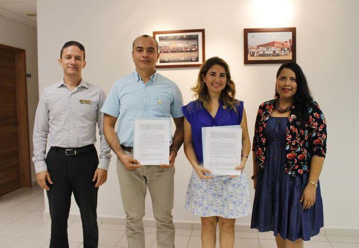 """El Tecnológico de Cancún firmó un convenio con la Asociación Civil """"Orgullo Ciudadano"""". (Foto: Redacción)"""