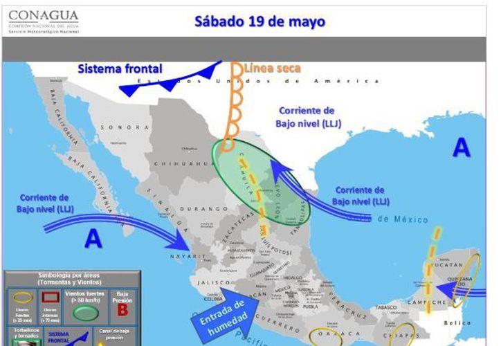 Para hoy se espera cielo mayormente nublado, la probabilidad de lluvias es del 40 por ciento en Chetumal. (Conagua)