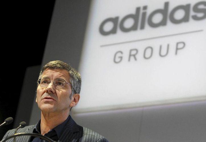 Herbert Hainer, presidente de Adidas, que le hizo al Manchester United una oferta que no pudo rechazar: 940 mde por al menos 10 años. (EFE)