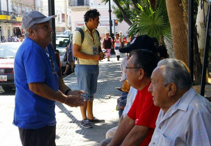 Promueven la activación físca de las personas de la tercera edad. (Juan Albornoz/SIPSE)