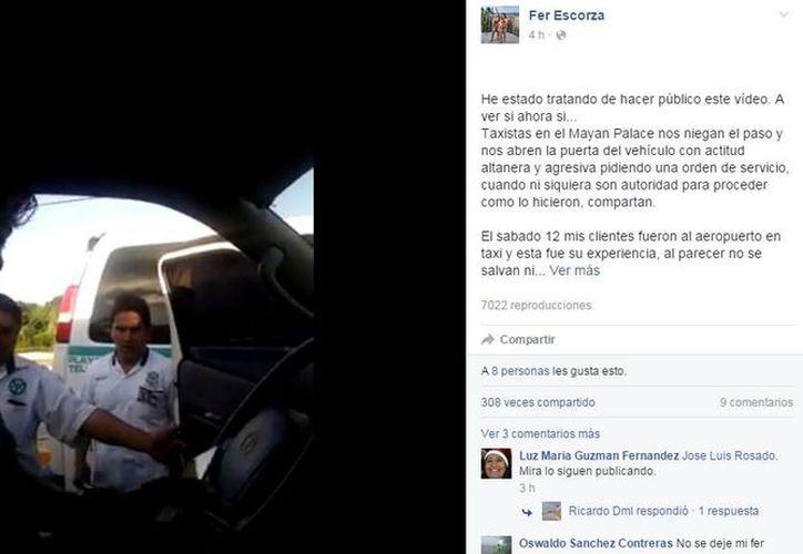 El video fue publicado en Facebook y ha sido compartido en más de 300 ocasiones. (Captura de pantalla)