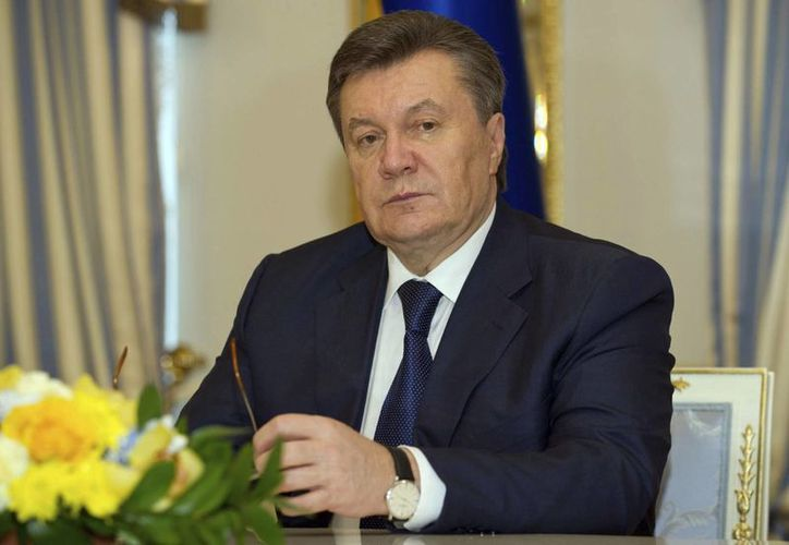 El depuesto presidente de Ucrania, Viktor Yanukovych quien tiene orden de arresto desde el viernes pasado. (Agencias)