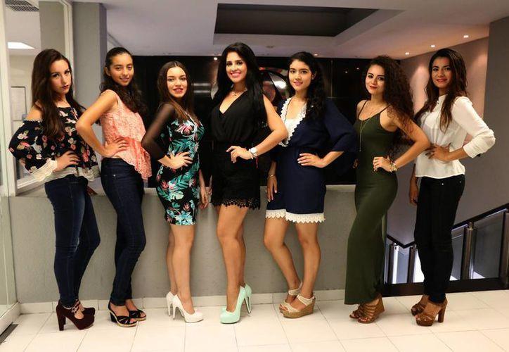 Algunas de las concursantes de la cuarta edición de  'Quiero Ser Modelo 2016' dijeron que entraron para aprender y otras están seguras que ganarán. (José Acosta/Milenio Novedades)