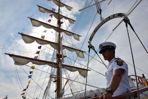 Histórica visita en el buque escuela 'Cuauhtémoc'