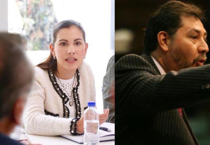 Diputada del PAN provida tiene altercado con Fernández Noroña (Fotos: Redes Sociales)