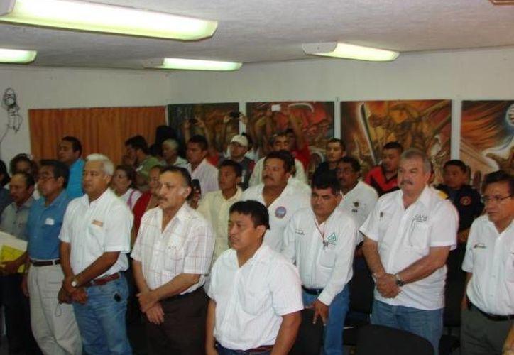 Los elementos que participarán se reunieron en Felipe Carrillo Puerto. (Manuel Salazar/SIPSE)