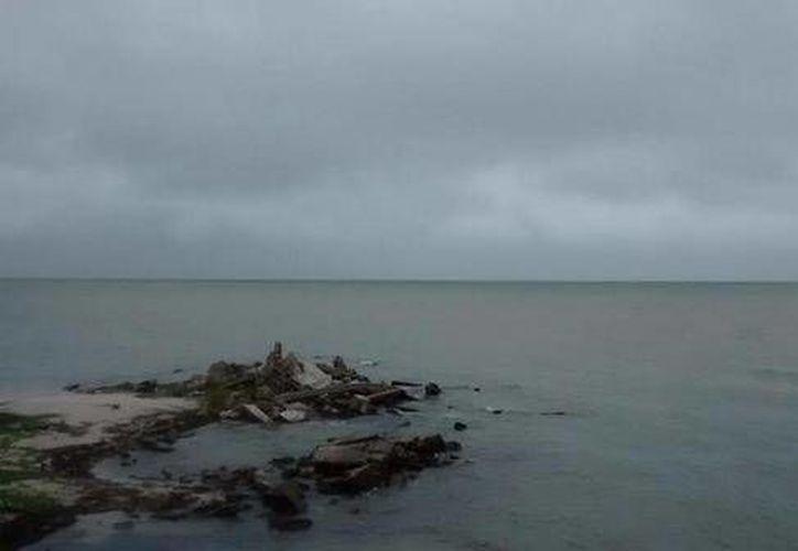 Así se ve Chabihau con marea alta pero oleaje tranquilo. (@gonza_gabriel)