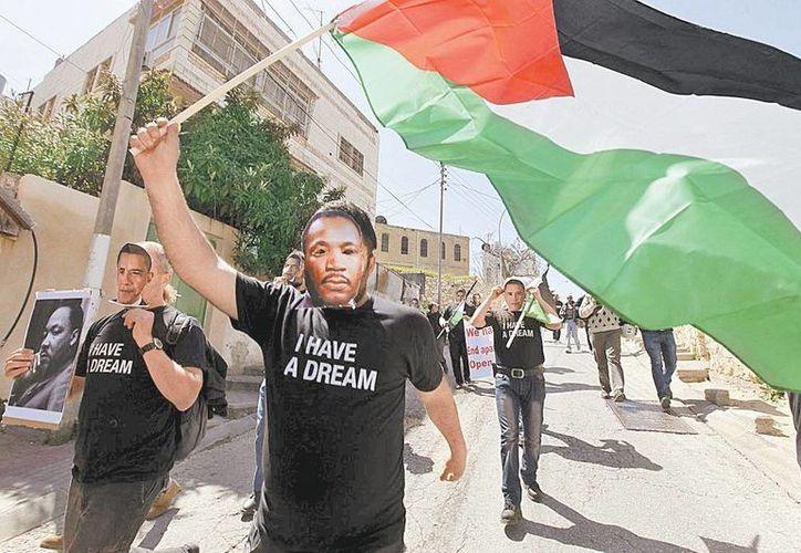 Manifestantes palestinos protestaron contra la primera visita presidencial de Obama a Israel y Ramala. (Milenio)
