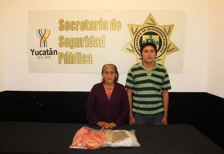 Maricelea Herrera Puc y Miguel Alcalá Herrera fueron detenidos en  la colonia Reparto Granjas. (Milenio Novedades)