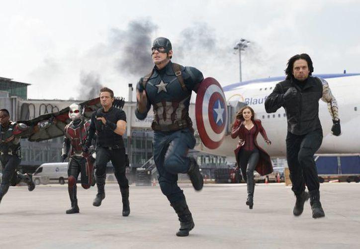 <i>Capitán America: Guerra Civil</i>, es la quinta más taquillera de la historia en Estados Unidos.- (AP)