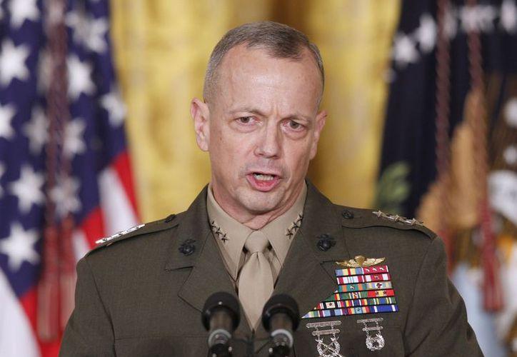 Está ahora en duda la nominación de John Allen como el próximo jefe del Mando Estadounidense en Europa y como comandante de las fuerzas de la OTAN en ese continente. (Agencias)